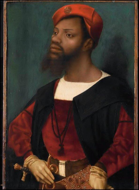 """Rijks Museum Amsterdam - Schilderij """"Zwarte Piet"""" - Jan Mostaert - Portret van een Afrikaan - ca. 1520 1530"""