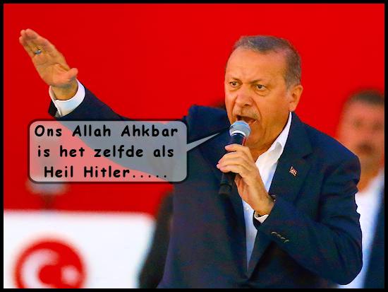Erdogan - Ons Allah Ahkbar is het zelfde als Heil Hitler