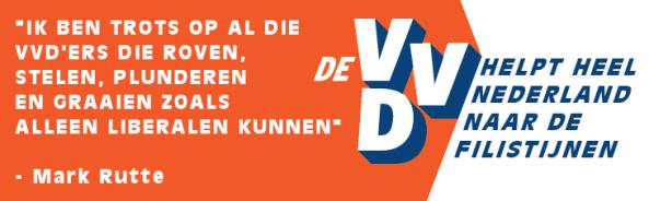 VVD - Helpt heel Nederland naar de Filistijnen